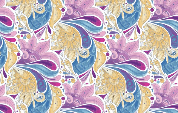 Picture flowers, pattern, vector, texture, style, texture, pattern, garden, floral, seamless, Paisley, paisley