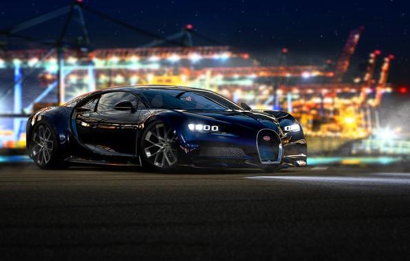 Picture rendering, Bugatti, Microsoft, game, Forza Motorsport, Chiron, Forza Motorsport 7