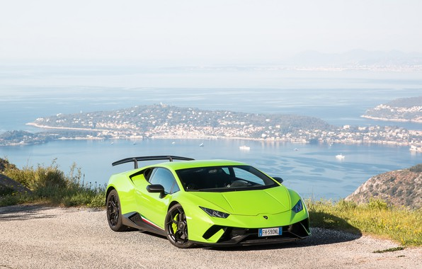 Picture Lamborghini, Green, Performante, Huracan