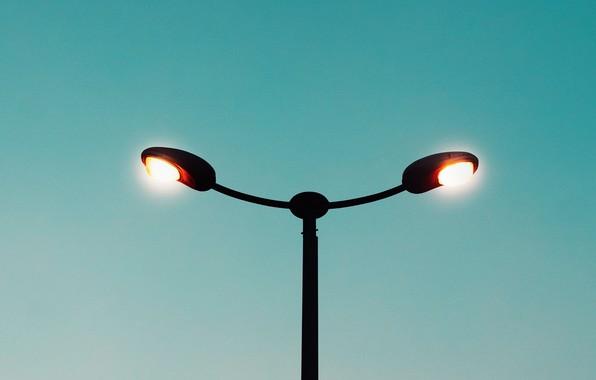 Picture the sky, light, lamp, minimalism, lighting, lantern