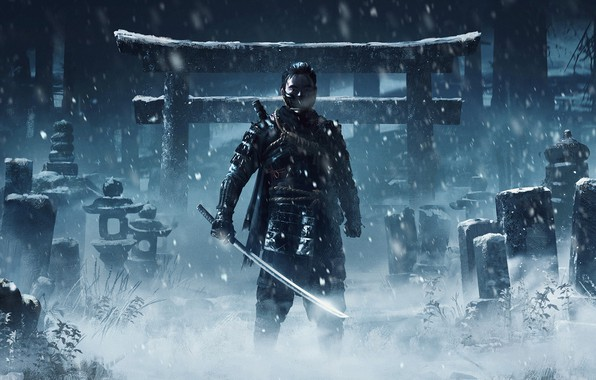 Picture PlayStation 4, Sucker Punch Productions, Jin, Sony Interactive Entertainment, Ghost of Tsushima