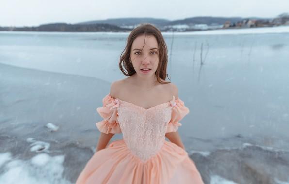 Picture winter, girl, ice, dress, Ann Pashko, Anna Pashko