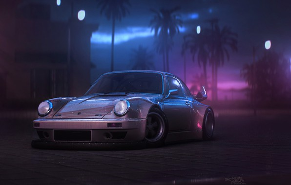 Picture Auto, 911, Porsche, Machine, Art, Porsche 911, Carrera, RSR, Synth, Game Art, Porsche 911 Carrera, ...