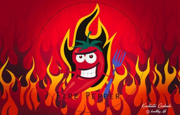 Picture pepper, sharp, illustration, hot pepper, bitter, red pepper, hot peppers, огненный перец