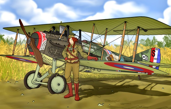 Picture Fighter, times, The red-haired girl, SPAD, S.XIII, The first World war
