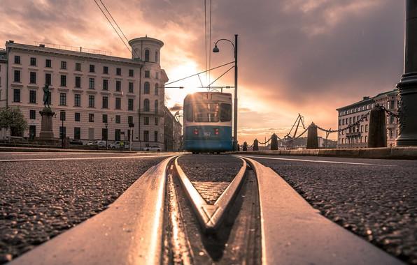 Picture the city, street, tram, Gothenburg