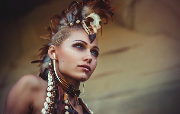 Picture girl, warrior, war paint, Alex Noori
