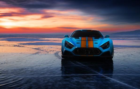 Picture drift car, hypercar, ddKaba, Flanker F, blue Flanker, Baikal Mile