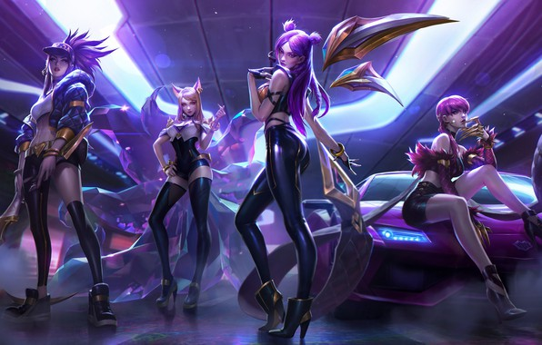 Picture girls, the game, art, League Of Legend