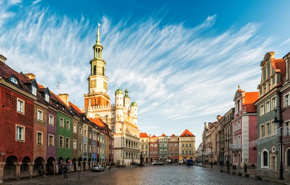 Picture the sky, building, home, area, Poland, Poland, Poznan, Old town, Poznań Town Hall, Old Market …