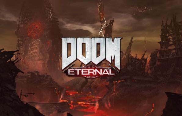 Picture logo, logo, Doom, DOOM, Gamescom 2018, DOOM Eternal, Doom Of Eternal, Eternal