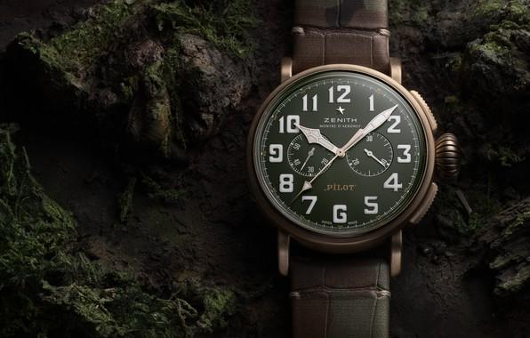 Picture Zenit, bronze, Pilot, Zenith, Pilot, Swiss luxury watch, Swiss wrist watches luxury, bronze case, Zenith …