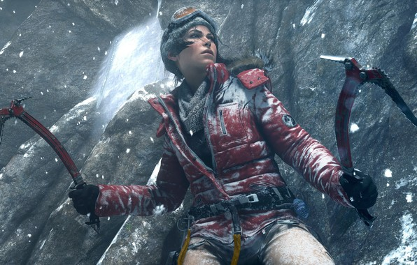 Picture Girl, Snow, Glasses, Jacket, Square Enix, Game, Lara Croft, Crystal Dynamics, Rise of the Tomb …