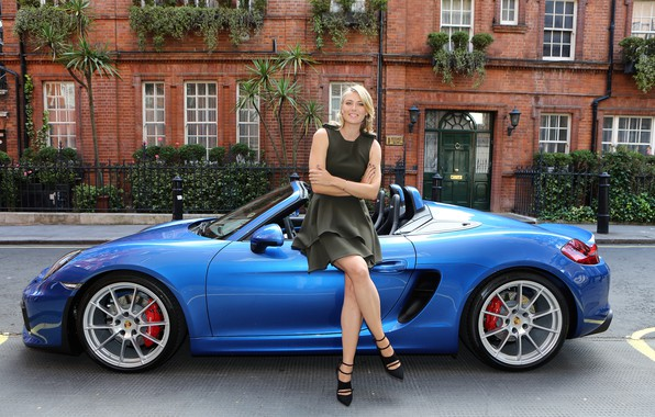 Picture auto, look, smile, Girls, Porsche, Maria Sharapova, Maria Sharapova, beautiful girl
