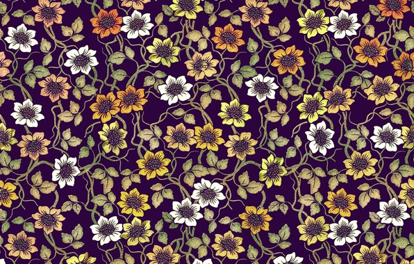 Picture flowers, pattern, design, pattern, floral, coloful