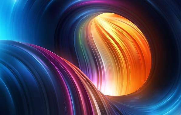 Picture wave, color, curves, abstraction 3D