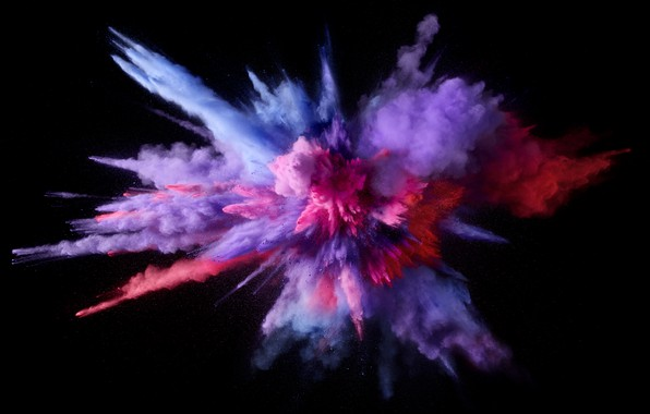 Picture Apple, Mac os, macOS, Color Burst, 5K, An explosion of color
