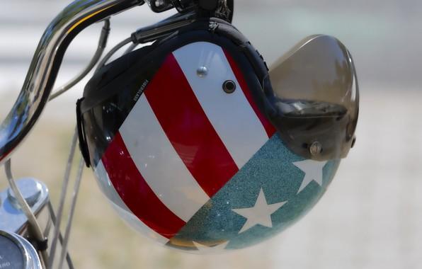 Picture background, motorcycle, helmet