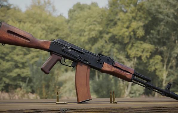 Picture rendering, weapons, tuning, Machine, Gun, weapon, render, Kalashnikov, render, 3d art, AK-74, AKM, Assault rifle, …