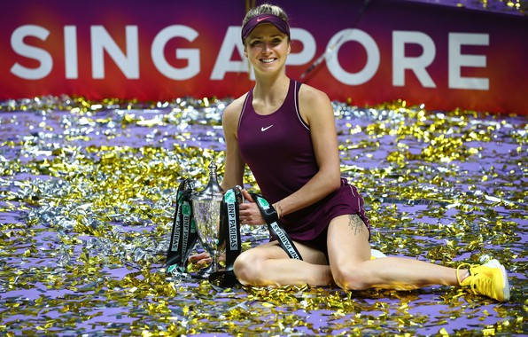 Picture Girl, Female, Beauty, Singapore, Trophy, Blonde, Ukraine, Woman, Sport, Tennis, Elina, WTA, Ukrainian, Elina Svitolina, …