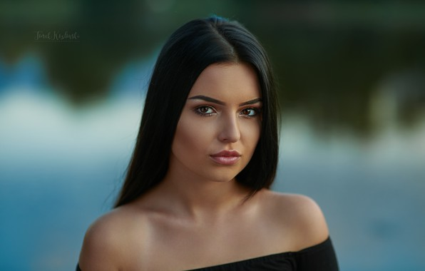 Picture girl, makeup, brown-eyed, Tom Koz Photo