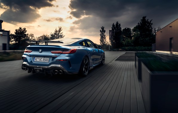 Picture machine, clouds, coupe, BMW, lights, AC Schnitzer, G15, M850i, ACS8 5.0i