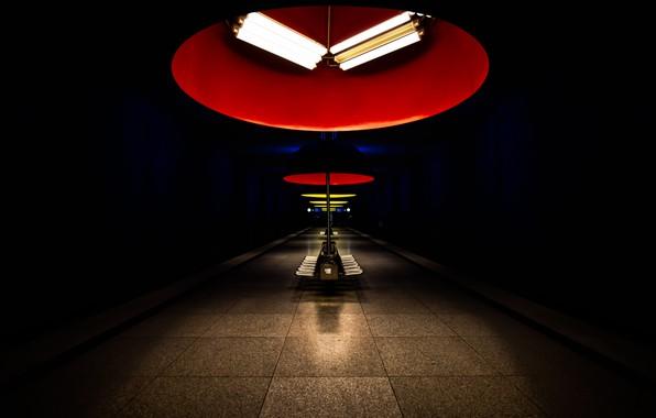 Picture metro, Munich, Bavaria, Nymphenburg, Mood Lighting