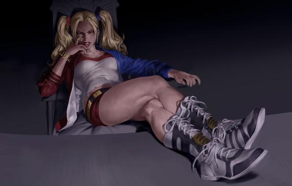 Picture look, pose, art, DC Comics, Harley Quinn, Suicide Squad