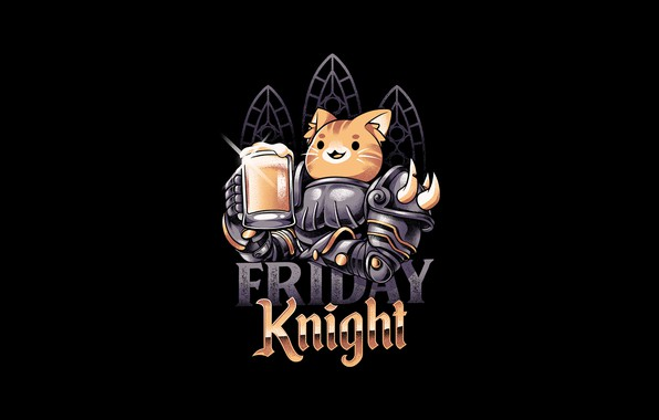 Picture Minimalism, Cat, Style, Beer, Background, Art, Art, Style, Knight, Cat, Background, Knight, Minimalism, Beer, by …
