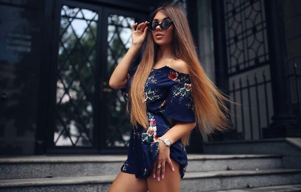 Picture girl, Model, long hair, dress, legs, photo, lips, face, brunette, pose, sunglasses, portrait, mouth, looking …