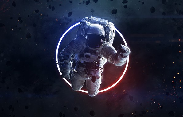 Picture Space, Astronaut, Astronaut, Ring, Art, Space, Art, Neon, Asteroids, Asteroids, Space, Ring, Cosmos, Astronaut, Vadim …