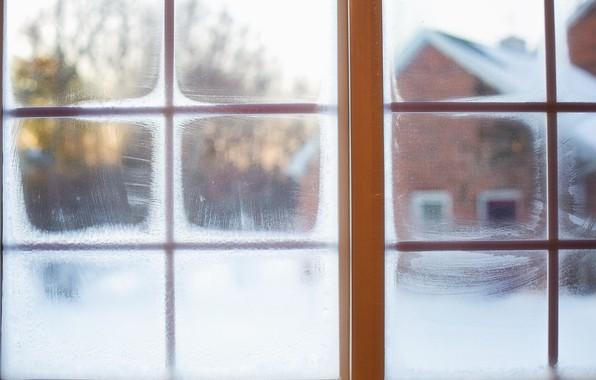 Picture winter, snow, window, winter, snow, window, frost