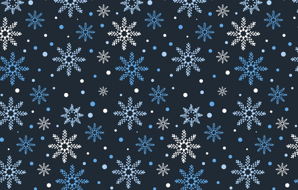 Picture winter, snow, snowflakes, background, blue, Christmas, blue, winter, background, snow, snowflakes
