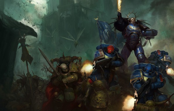 Picture space marine, Ultramarines, Warhammer 40 000, Death Guard, primarch, chaos space marines, Roboute Guilliman