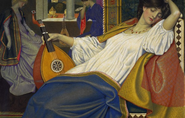 Picture Sleeping beauty, 1903, Joseph Edward Southall