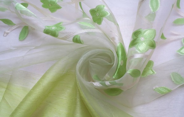 Picture texture, fabric, folds, textiles, organza, the luster of silk, the transparency of the fabric, floral …