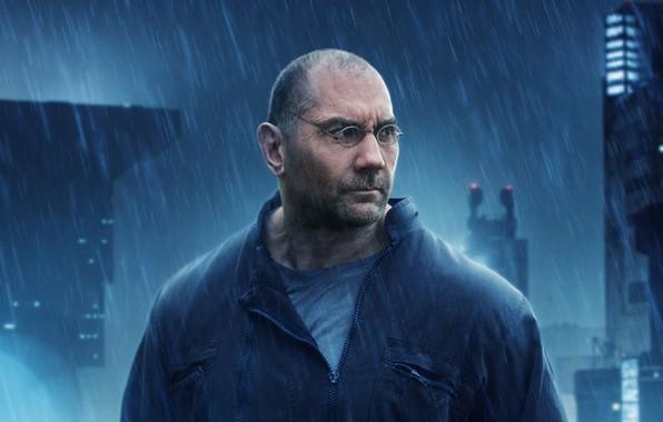 Picture look, pose, rain, glasses, Dave Bautista, Dave Batista, Blade runner 2049, Blade Runner 2049, Supper …