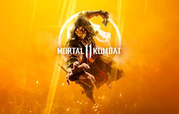 Picture The game, Scorpio, Fighter, Art, Mortal Kombat, Mortal Kombat, Scorpion, Character, MK11, MK, 11, Cover …