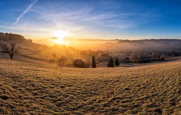 Picture light, morning, Switzerland, Canton of St. Gallen, Kirchberg