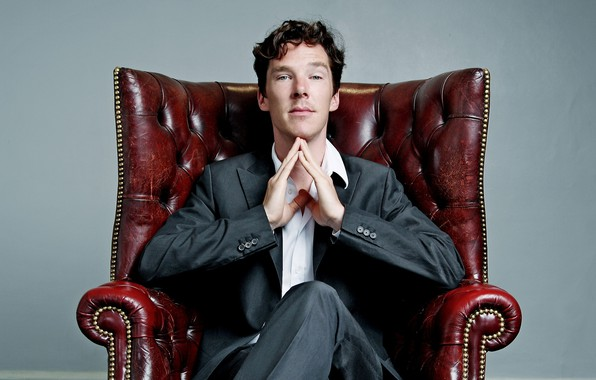 Picture chair, guy, young, Benedict Cumberbatch, Benedict Cumberbatch