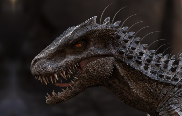 Picture dinosaur, art, lizard, qolop tg, The old model