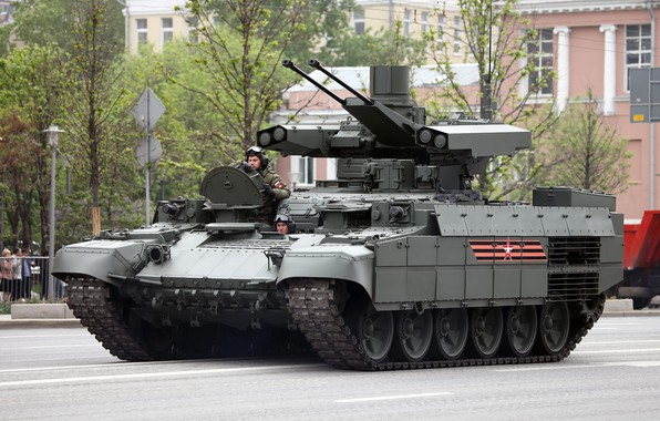 """Picture street, military equipment, The armed forces of Russia, UVZ, preparing for Victory Parade, BMPT """"Terminator"""", …"""
