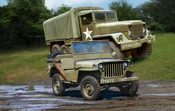 Picture jeep, truck, Off Road Vehicle, M34 Tactical Truck