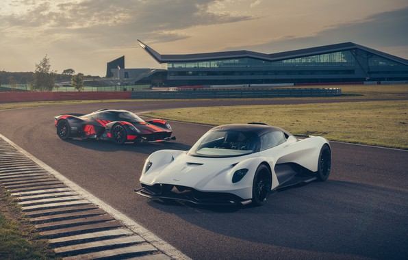 Picture machine, Aston Martin, lights, supercar, track, hypercar, Valkyrie, Red Bull Racing, Valhalla
