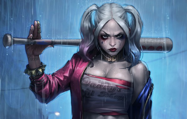 Picture art, bit, fragment, JeeHyung lee, Harley Quinn, jeehyung