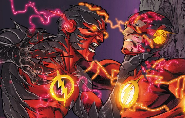 Picture zipper, battle, fight, flash, DC Comics, flash, Barry Allen, speedforce, reverse flash, reverse-flash, reverse flash, …