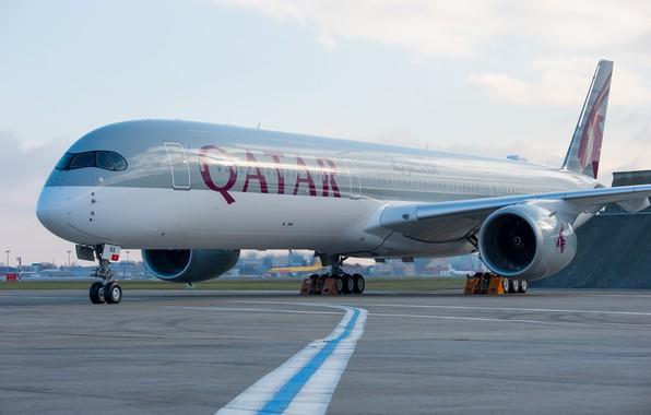 Picture Airbus, Qatar Airways, Chassis, A passenger plane, Airbus A350 XWB, Airbus A350-1000