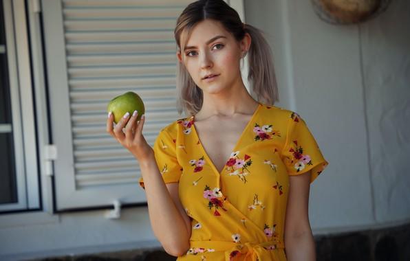 Picture girl, pose, Apple, dress, tails, Eva Elfie