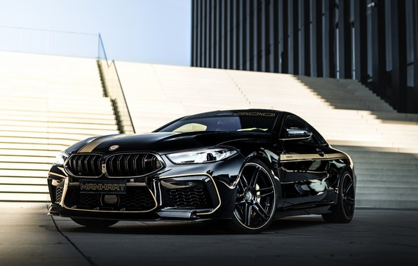 Picture black, tuning, coupe, shadow, BMW, ladder, Manhart, 2020, BMW M8, 4.4 L., two-door, V8 Biturbo, …