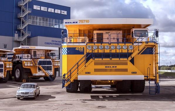 Picture auto, giant, Volga, dump truck, BelAZ